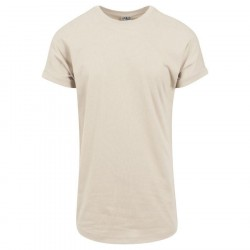 Urban Classics Long Shaped Turnup Tee Sand