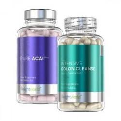 WeightWorld Acai Kapsler & Intensive Colon Cleanse Combo - 120x2 Kapsler - For Udrensning Af Toksiner - Spar 10 % - Styrk Immuns