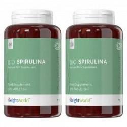 WeightWorld Bio Spirulina Algae Kosttilskud - Kraftfuld Spirulina for Sundhed - 2 Pakker - 100% naturligt og økologisk - Tablett