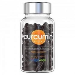 WeightWorld Curcumin - 60 Gurkemeje Piller - Gurkemeje Kapsler Med D-vitamin - For Sunde Led & Immunsystem - 185 x Mere Biotilgæ