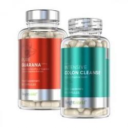WeightWorld Energi & Udrensning - Pure Guarana + Colon Cleanse - Combo Pakke - 499 kr. - Kan øge stofskiftet og forbrændingen -