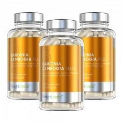 WeightWorld Garcinia Cambogia Plus - Garcinia Cambogia Piller - 3x60 Kapsler - 1000mg - Appetitnedsættende - Med Grøn Te, Guaran