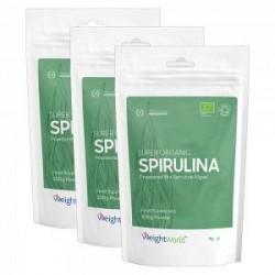 WeightWorld Spirulina Kosttilskud - Økologisk & Naturligt - Spar 20 % på 3 Poser - Beriget med calcium og magnesium - Vitaminer