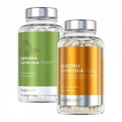 WeightWorld Super Garcinia Pakke - Dobbeltpakke med Kosttilskud for Vægtkontrol og Vitalitet - 2x60 Kapsler - 100 % naturlige og