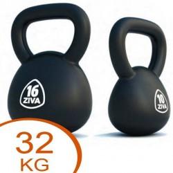 Ziva Rubber Coated Kettlebell 32kg