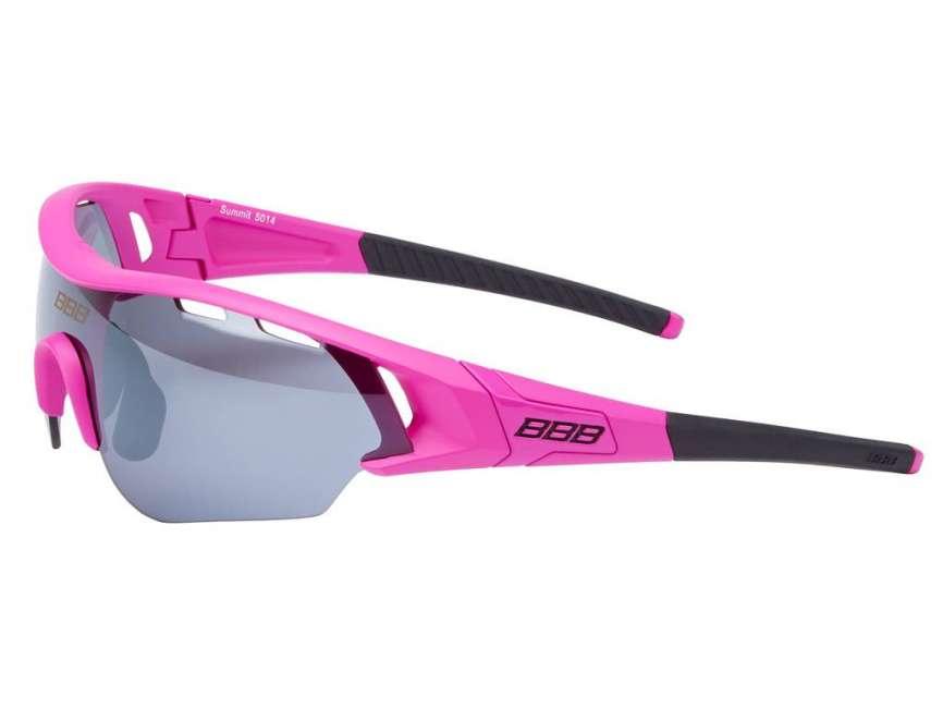Priser på BBB - Løbe- og cykelbrille Summit - 3 sæt linser - Pink
