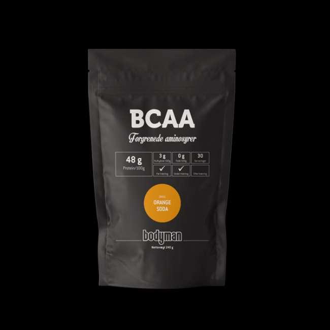 Priser på Bodyman BCAA Orange Soda 240g